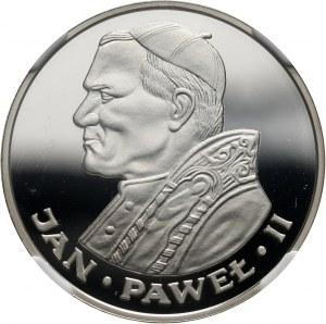 PRL, 100 złotych 1986, Valcambi, Jan Paweł II, stempel lustrzany