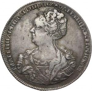 Rosja, Katarzyna I, rubel 1725 СП-Б na rewersie, Petersburg