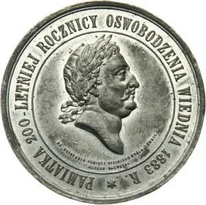 Galicja, medal z 1883 roku, 200-tna rocznica Odsieczy Wiedeńskiej