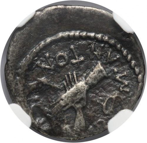Cesarstwo Rzymskie, Marek Antoniusz i Oktawian, 39 p.n.e., kwinar, Galia