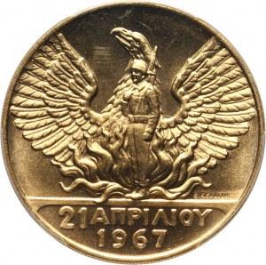 Grecja, 100 drachm 1970, 3-cia Rocznica Rewolucji 1967