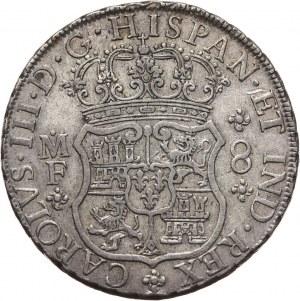 Meksyk, Karol IV, 8 reali 1767 Mo-MF