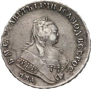 Rosja, Elżbieta I, rubel 1747 ММД, Moskwa