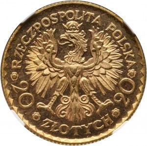II RP, 20 złotych 1925, Warszawa, Bolesław Chrobry, PROOFLIKE