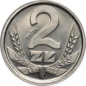 PRL, 2 złote 1989, PRÓBA, nikiel