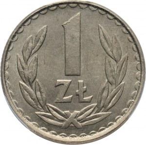 PRL, 1 złoty 1984, baz napisu PRÓBA, miedzionikiel