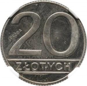 PRL, 20 złotych 1989, PRÓBA, miedzionikiel