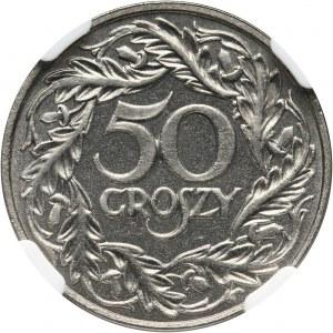 II RP, 50 groszy 1923, Wiedeń, bez napisu PRÓBA, stempel lustrzany