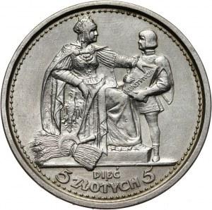 II RP, 5 złotych 1925, Warszawa, Konstytucja, 100 perełek