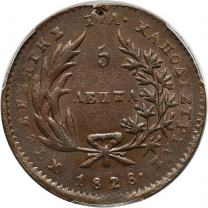 Grecja, 5 lepta 1828