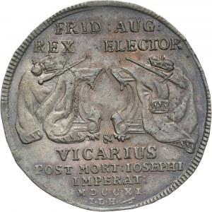 August II, półtalar wikariacki 1711 ILH, Drezno