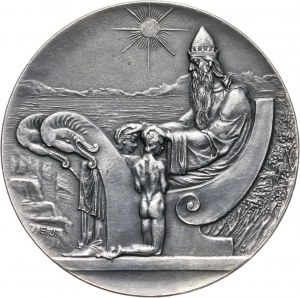 Islandia, medalowe 10 koron 1933, 1000-lecie parlamentu