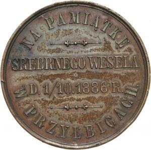 XIX wiek, medal z 1886 roku, srebrne wesele Jana i Zofii Szeptyckich