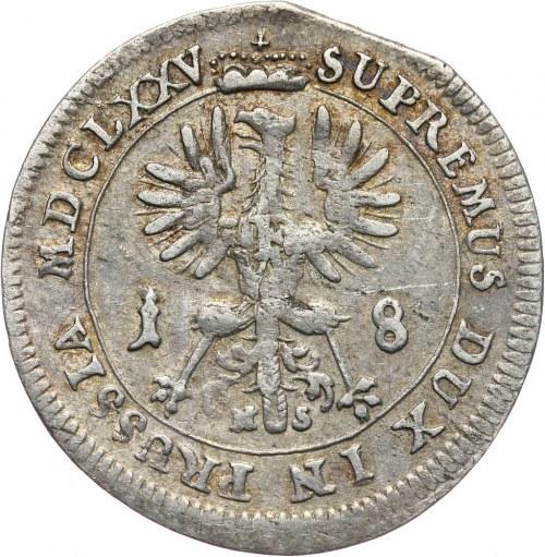 Niemcy, Brandenburgia-Prusy, Fryderyk Wilhelm I, ort 1675, Królewiec