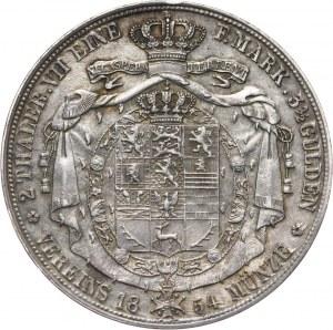 Niemcy, Brunszwik-Lüneburg, Wilhelm, 2 talary 1854 B, Hanower