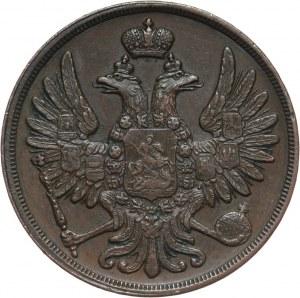 Zabór rosyjski, Mikołaj I, 2 kopiejki 1855 BM, Warszawa