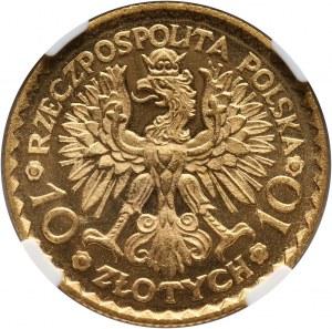 II RP, 10 złotych 1925, Warszawa, Bolesław Chrobry, PROOFLIKE