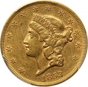 Stany Zjednoczone Ameryki, 20 dolarów 1853, Filadelfia