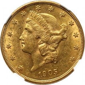 Stany Zjednoczone Ameryki, 20 dolarów 1905, Filadelfia