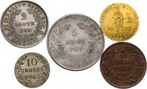 Pamiątkowe pudełko z monetami Powstania Listopadowego