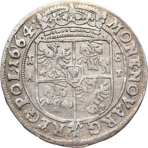 Jan II Kazimierz, ort 1664, Poznań