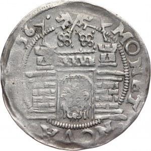 Zakon Kawalerów Mieczowych, Henryk von Galen 1551-1557, 1/2 marki 1556, Ryga