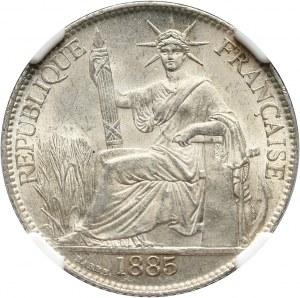 Francuskie Indochiny, 20 centów 1885 A, Paryż