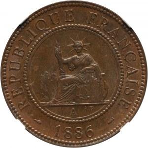 Francuskie Indochiny, cent 1886 A, Paryż