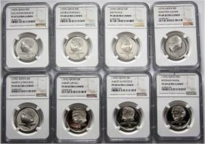 Ajman, zestaw 8 monet 5 riali z 1970 roku