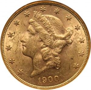 Stany Zjednoczone Ameryki, 20 dolarów 1900, Filadelfia