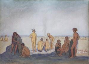 Wlastimil Hofman (1881-1970), Na plaży, 1932