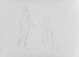 Karol Kossak (1896-1975), Szkice dwu kobiet, 1922
