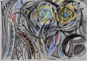 Janina Muszanka - Łakomska (1920-1982), Kompozycja z żółtymi kwiatami [tytuł umowny], ok.1976