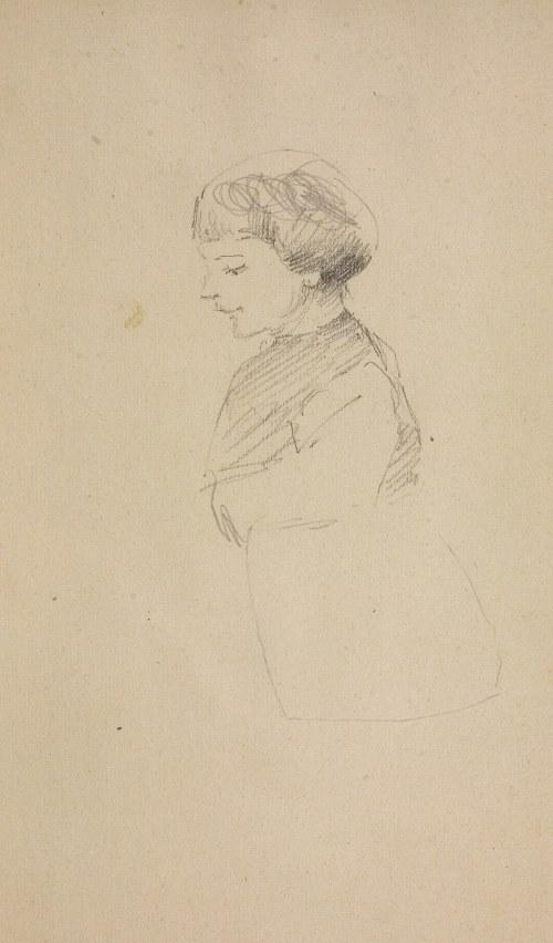 Jacek Malczewski (1854-1929), Popiersie dziecka z lewego profilu