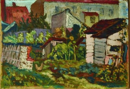 Kazimierz Podsadecki (1904 – 1970), Stare szopy i kury, [1936]