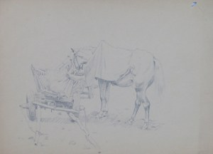 Ludwik Maciąg (1920-2007), Koń przy wozie