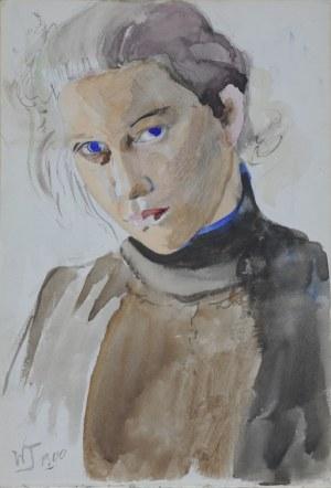 Włodzimierz Tetmajer (1861 – 1923), Niebieskooka – Portret dziewczyny, 1900