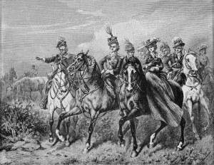 Juliusz Kossak (1824-1899), Mohort prezentujący stadninę Księciu Józefowi Poniatowskiemu, 1858