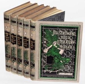 BIEGELEISEN HENRYK - ILLUSTROWANE DZIEJE LITERATURY 1-5 komplet.