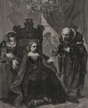Jan MATEJKO (1838-1893), Józef HOLEWIŃSKI (1848-1917) - rytował, Otrucie Królowej Bony