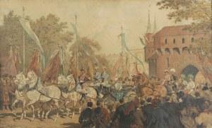 Juliusz KOSSAK (1824-1899), Wjazd Cesarza Franciszka Józefa do Krakowa, ok. 1890