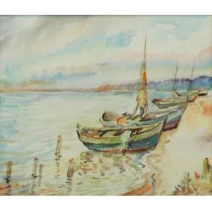 Emil SCHINAGEL (1899-1943), Łodzie przy brzegu, 1919