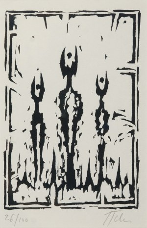 Jerzy TCHÓRZEWSKI (1928-1999), Kompozycja [Rogaci], 1984