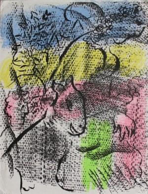 """Marc Chagall (1887-1985), Kobieta z kozą(""""XXe Siecle"""" no 34, 1970, Mourlot #608)"""