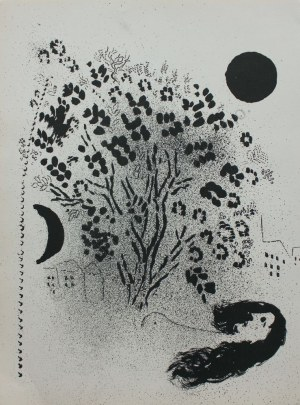 "Marc Chagall (1887-1985), Wieczór(""Verve"" vol. 7, no 27-28, 1952, Mourlot #86)"