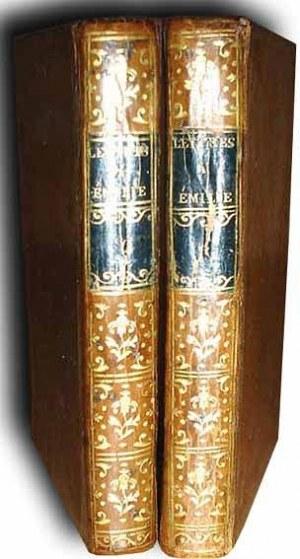 DE MOSTIEUR- LETTRES A EMILIE SUR LA MYTHOLOGIE [MITOLOGIA STAROŻYTNA] wyd. 1794r.  TOM I-II MIEDZIORYTY SKÓRA