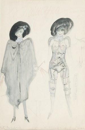 Franciszek STAROWIEYSKI (1930-2009), Halucyna - Projekt kostiumu do spektaklu w teatrze Ateneum - Oni, St. I. Witkieiwcz, 1978