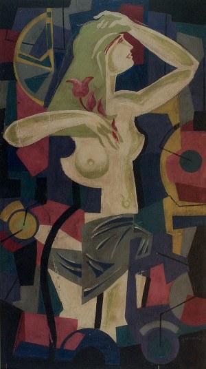 Tadeusz GRONOWSKI (1894-1990), Akt z tulipanem