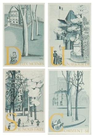 Mojżesz KISLING (1891-1953), Zestaw czterech litografii, l. 50. XX w.