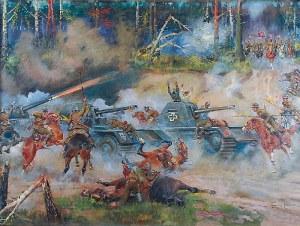 Jerzy KOSSAK (1886-1955), Bitwa pod Kutnem, lata 50. XX w.